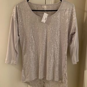 NWT Maurice's Studio Y Lace/Sequin Shirt Size S